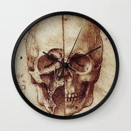 Da Vinci skeleton Wall Clock