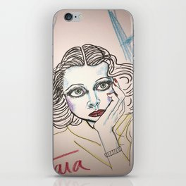 Hedy in Blue iPhone Skin