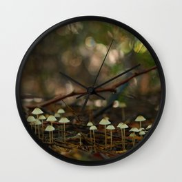 Mycena Colony In The Woods... Wall Clock
