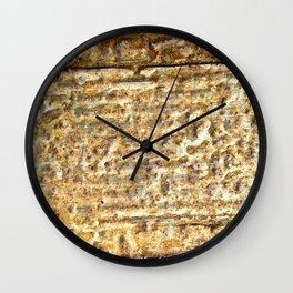 Crush To Rust Wall Clock