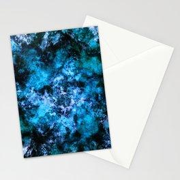 Blue burst Stationery Cards