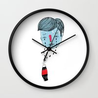coke Wall Clocks featuring Coke Tears by Holy Moli