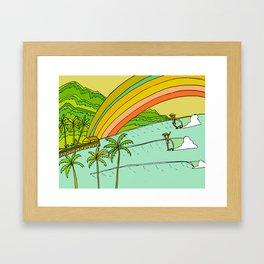 Surf Paradise Rainbow of Happiness Framed Art Print