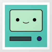 bmo Art Prints featuring BMO by Expired Kimchi