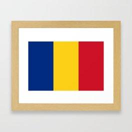 Flag of romania 3 -romania,romanian,balkan,bucharest,danube,romani,romana,bucuresti Framed Art Print