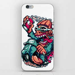 Scooter Driver - GREEN iPhone Skin