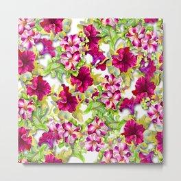 Cute purple flowers Metal Print