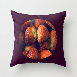 Strawberry fields forever.... Throw Pillow