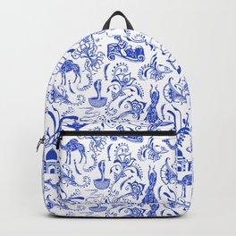 Arabian Nights // China Blue Backpack