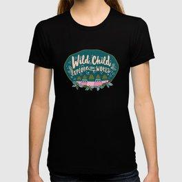 Wild Child Explore the World Mountains T-shirt