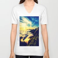mountains V-neck T-shirts featuring Mountains. by 2sweet4words Designs