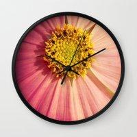 cosmos Wall Clocks featuring Cosmos by KunstFabrik_StaticMovement Manu Jobst