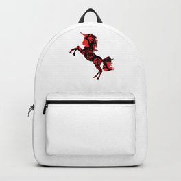 Redflower fire unicorn Backpack