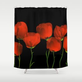 Poppy dance Shower Curtain