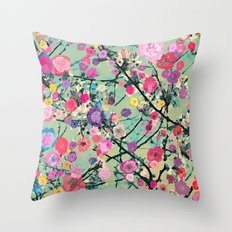 Floral abstract(60) Throw Pillow