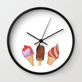 Ice Cream Connoisseur Sweets Summertime Wall Clock