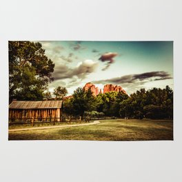 Southwest Chimney Rock Vortex Sedona Arizona Rug