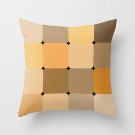 Honey squares Throw Pillow