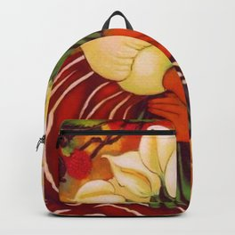Sleeping Young Woman (Frida Kahlo) with Lilies portrait painting by Diego Rivera Backpack
