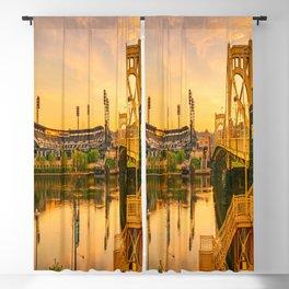 Pittsburgh Ballpark Riverview Sunrise Print Blackout Curtain