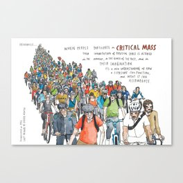 Critical Mass from Meanwhile in San Francisco Canvas Print