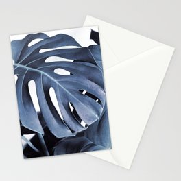 Blue Monsteras Stationery Cards