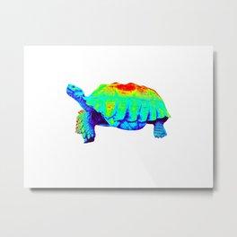 Infrared Sulcata Tortoise Metal Print