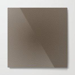 Brown Leather Metal Print