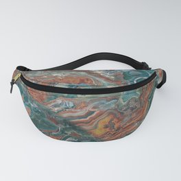 Rich Green and Rust Marble Fanny Pack