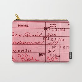 Library Card 23322 Pink Carry-All Pouch