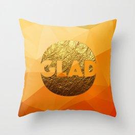 GLAD #GoldenPsalms Throw Pillow