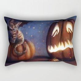 Batty Halloween Rectangular Pillow