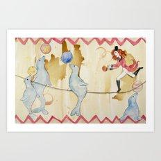 Circus: Seals Art Print