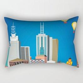 Melbourne, Australia - Skyline Illustration by Loose Petals Rectangular Pillow
