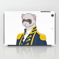 ferret iPad Cases featuring Captain Ferret by Szilárd A Legjobb