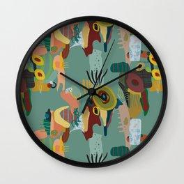 Abstract Kiwi Pattern Wall Clock