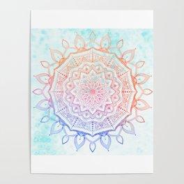 Floral Mandala Poster