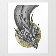 Silver Dragon Art Print