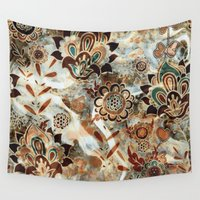 ethnic Wall Tapestries featuring Ethnic Pattern by RIZA PEKER