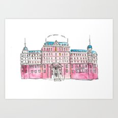 The Pink Hotel Art Print
