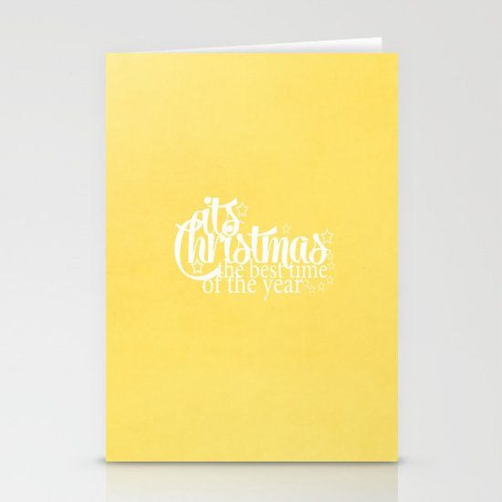 Its Christmas {Gold} Stationery Cards
