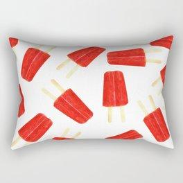 Red Popsicles Rectangular Pillow