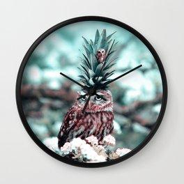 Owl King - Julien Tabet - Photoshop Artwork Wall Clock