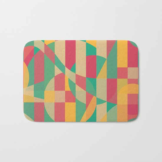 Abstract Graphic Art - Contemporary Music Bath Mat