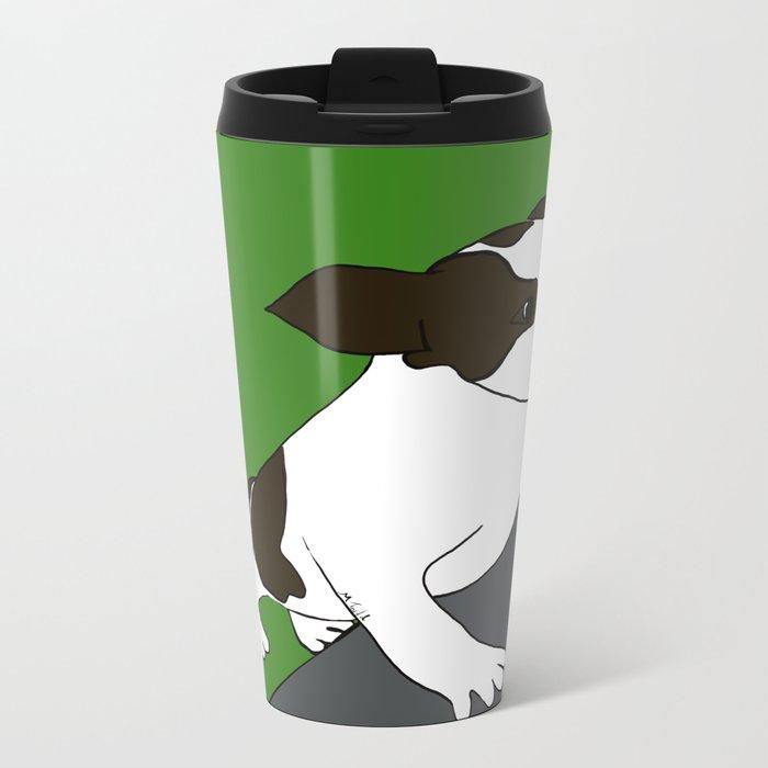 Annie The Boston Terrier Metal Travel Mug