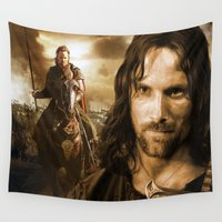 lord of the rings Wall Tapestries featuring lord of the rings,the hobbit by ira gora
