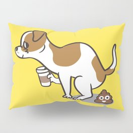Coffee makes me poop  Jack Russell Terrier Pillow Sham
