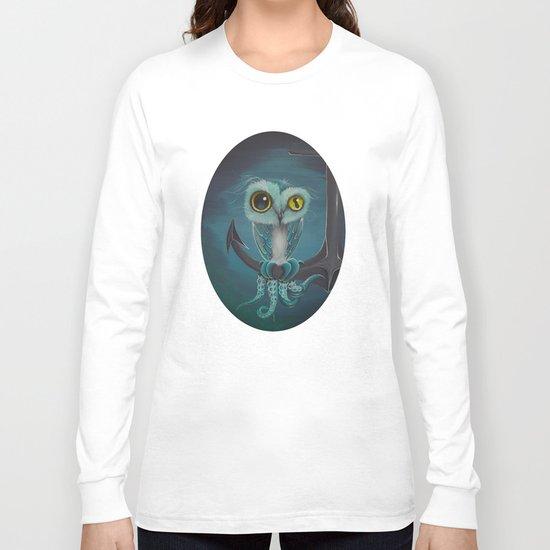BLue Octowl Long Sleeve T-shirt