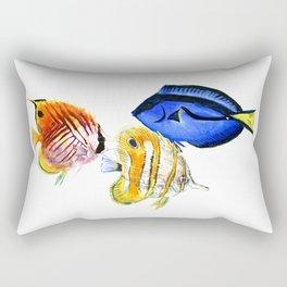 Coral Fish, tropical fish artwork, coral sea world Rectangular Pillow