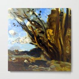 Jean Baptiste Camille Corot The Blast Metal Print
